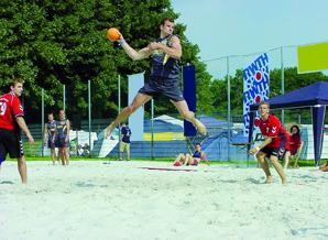 Volleybal op de hochschulsportvelden